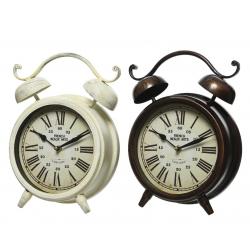 OCLOCK - Horloge reveil Fer Noir/Blanc D8 x H31 cm