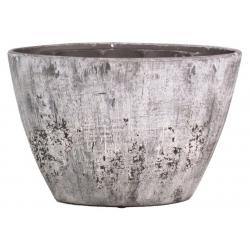 DICK - Vasque Ciment Orchidées Gris L32 x P14.5 x H22.5 cm