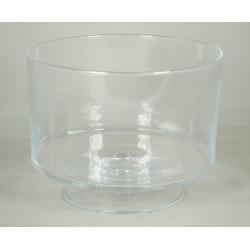 CYL - Vase Verre Cylindre sur Pied D25 x H19 cm