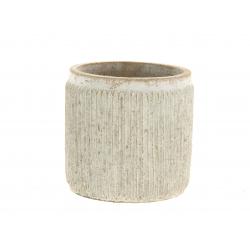 STIG - Cache-pot beige D13 x H12.5 cm