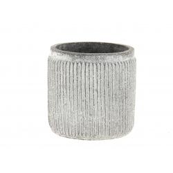 STIG - Cache-pot gris D13 x H12.5 cm