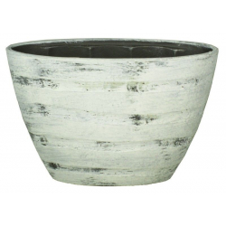 DICK - Vasque Ciment Orchidées Crème L32 x P14.5 x H22.5 cm