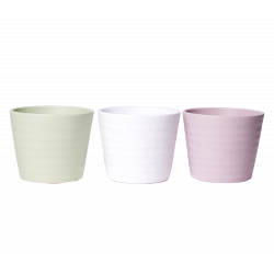 WAVE - Pot Orchidée Coul Mixées D12 x H10.5cm par 9