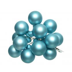 Boule Noël 20mm sur fil Bleu arctique mat par 144