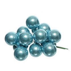 Boule Noël 20mm sur fil Bleu artique par 144