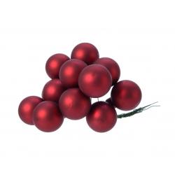 Boule Noël 20mm sur fil Rouge bordeaux par 144
