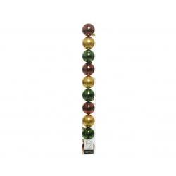Boules Noel Plastique Assortiment vert et jaune D6 cm par 10