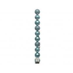 Boules Noel Plastique Bleu D6 cm par 10