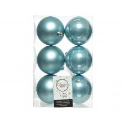 Boules Plastique Bleu mate et brillant D8 cm Par 6