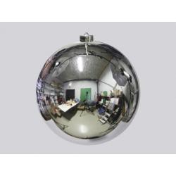 Boule de Noël plastique d18 cm Argent