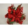 SHINE - Poinsettia Paillettes rouges D10 cm