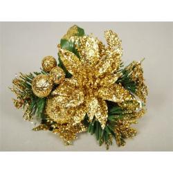 SHINE - Poinsettia Paillettes dorées D10 cm