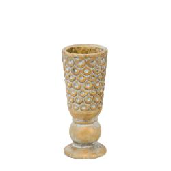 FENI - Vase Ciment Jaune D10,5 x H30 cm