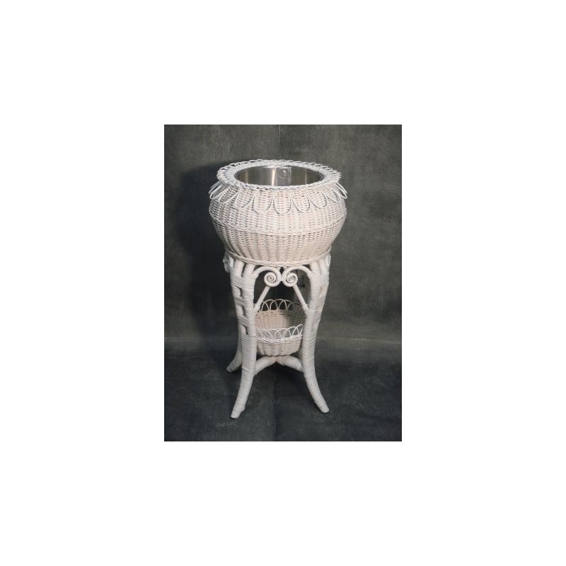 Porte Plante Rotin ROSE Blanc 0.4x0.7m