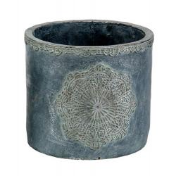 MANDALA - Pot Ciment Gris D18,5 x H16 cm