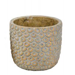 FENI - Pot Ciment Jaune D15 x H13,5 cm