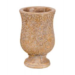 BANITO - Vase Céramique Doré D16 x H25 cm