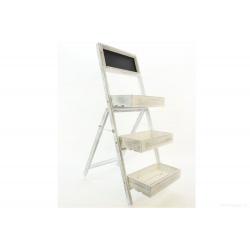 STAIRS - Etagère pour fleurs Blanc L33 x P56 x H83 cm