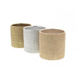 TUZLA - Cache-pots ronds assortis D7.2 x H6.3 cm
