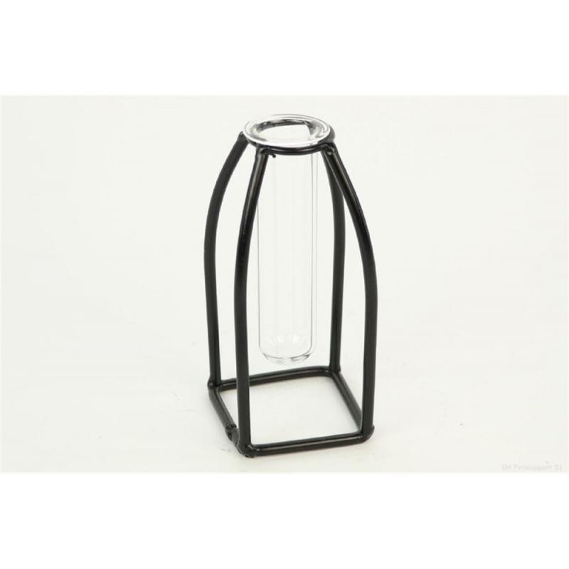 CURI - Vase + Support fer à suspendre D6 x H13.5 cm