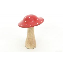 KUKURA - Champignon décoratif Bois Rouge D11 x H16 cm