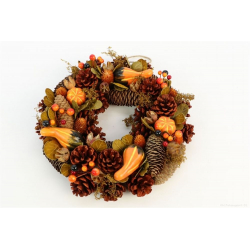 CROWN - Couronnne Fruits d'automne Orange D30 x H7 cm