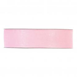 Ruban Organza 25mmx50m Rose Pale