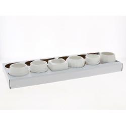 BALVI - Petits pots assortis Blanc D8 x H7,5 cm par 6