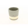 SEJI - Cache-pot gris Ciment  D11 x H11 cm