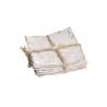 BARK - Plaque d'écorce de bouleau Bois blanchi  L10 x P10 cm par 10