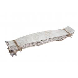 BARK - Planches d'écorce de bouleau Bois blanchi L46 x P7.5 cm par 10