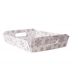Panier Conique Anses Carton Flocon 35 x 26 x 7 cm par 10