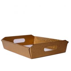 Panier Conique Anses Carton Rond Or 35 x 26 x 7 cm par 10