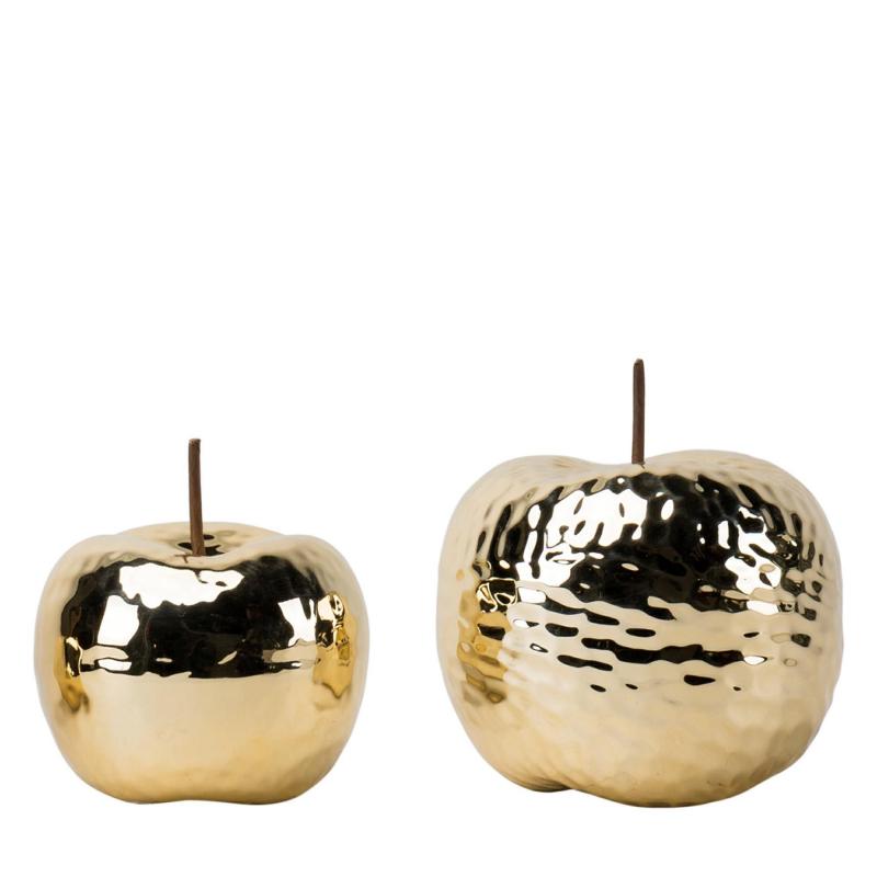 APPLE - Pomme Metallique Or D12 x H12 cm
