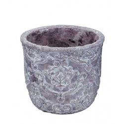 KOMATO - Pot Ciment Lilas D15 x H13,5 cm