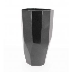 Vase Diama Gris Métal d 19 x h 32 cm