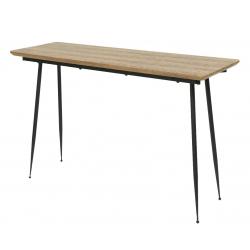 MDF - Console en bois vernis L120 x P40 x H76 cm