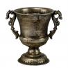 POKAL - Vase Médicis Metal Gris Vieilli D20 x H18.5 cm