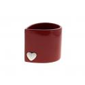 CORAZON - Cache-pot cœur rond Céramique Rouge L12.5 x P10 x H11 cm