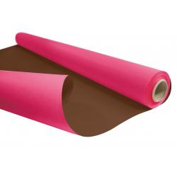 Kraft Duo Fuchsia/Chocolat  0.80 x 40 m