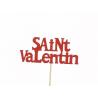 VALENTIN - Piques Saint Valentin Rouge D12 x H20 cm par 12