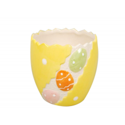 Cache-pot Pâques Céramique Jaune D11 x H9 cm