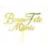 Pique Plastique Bonne Fête Mamie H20cm Par 24