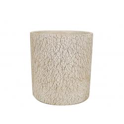 MARBLE - Cache-pot marbré Céramique Gris D11 x H10 cm