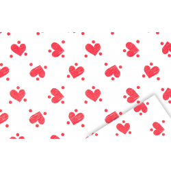 DOMI - Opaline Domi Rouge Blanc 0.7 x 40 m