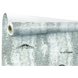 BOULEAU - Papier Kraft Blanc Motifs bouleau 0.79 x 40 m