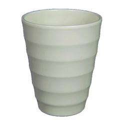 RIBBEL - Vase orchidée Céramique Blanc mat D14 x H17 cm