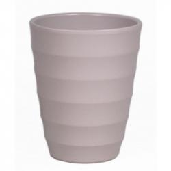 RIBBEL - Vase orchidée Céramique Gris mat D14 x H17 cm par 6