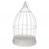 BIRD - Cages à oiseaux Métal Blanc L25 x P25 x H45 cm