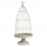 BIRD - Cage à oiseaux Métal Grise D35 x H80 cm